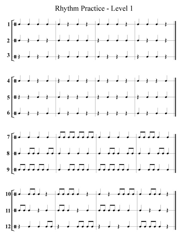 Collection Of Rhythm Worksheets Free