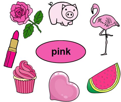 Color Pink Worksheets For Kindergarten