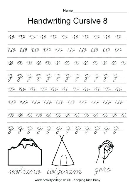 Cursive Writing Worksheets Luxury Letters A Z Letter Form Free To