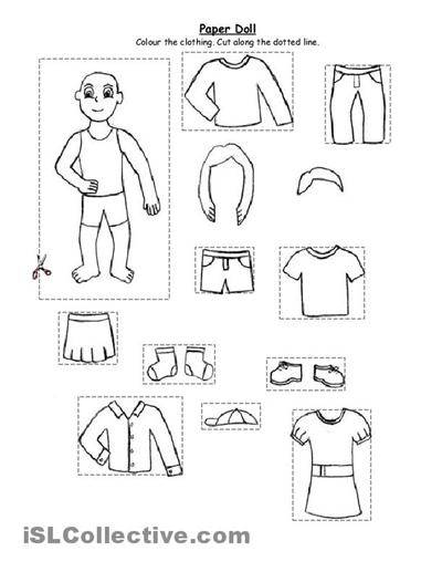 Preschool Winter Clothes Worksheets