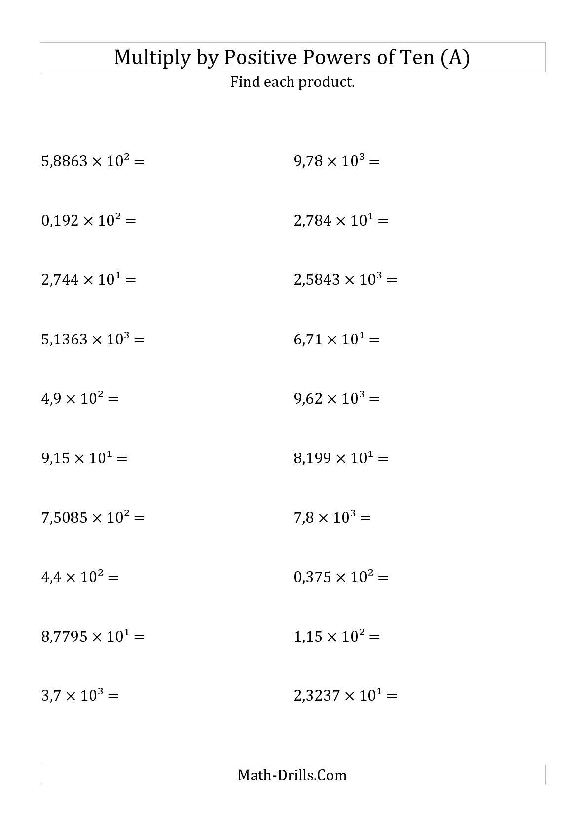 Decimal Multiplication Worksheets 6th Grade  1280324