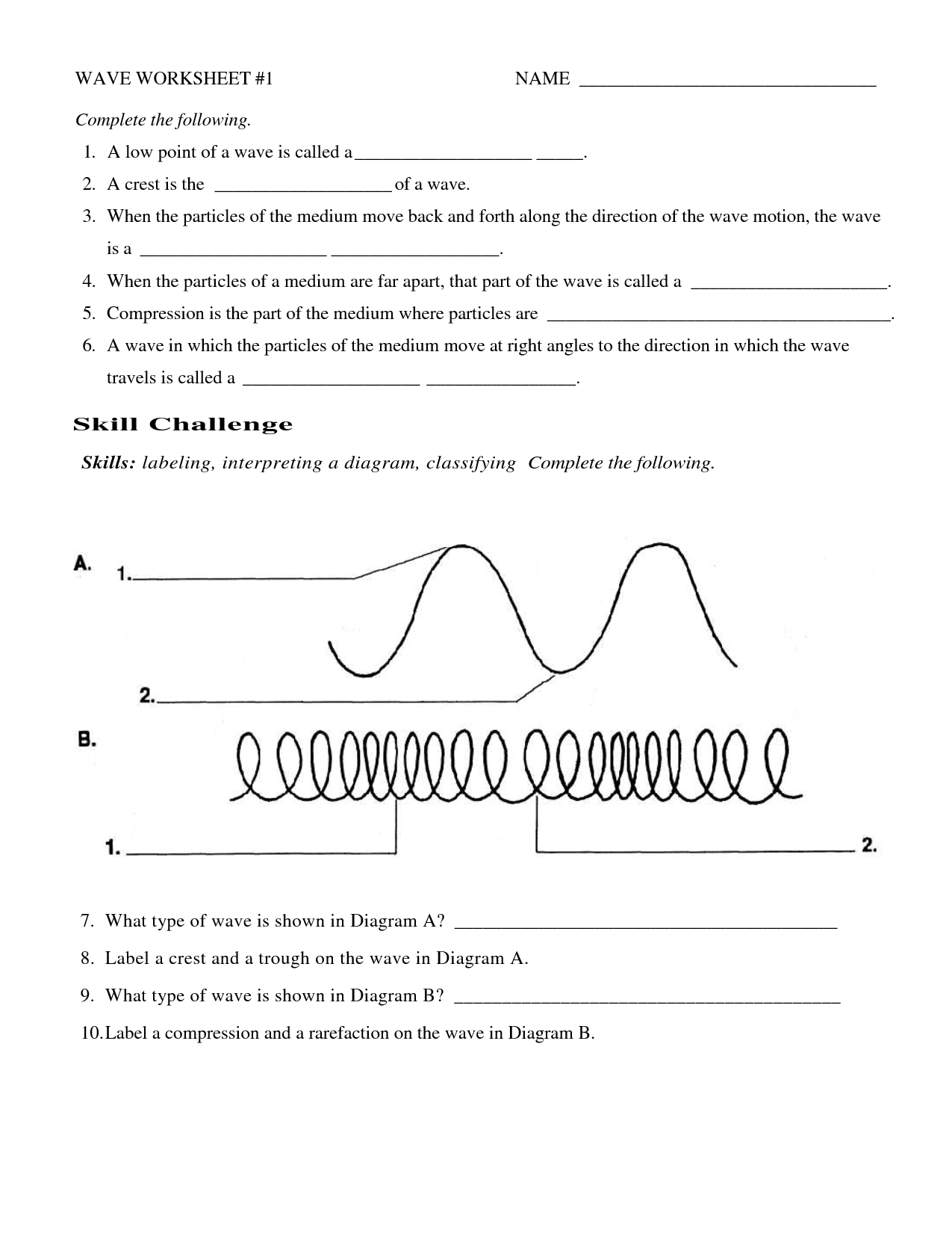 Diagram Of A Sound Wave Worksheet Answers
