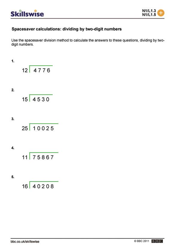 Division 2 Digit Numbers Worksheets  249136