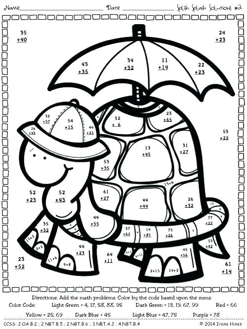 Double Digit Addition Coloring Worksheets 3 With Regrouping Math
