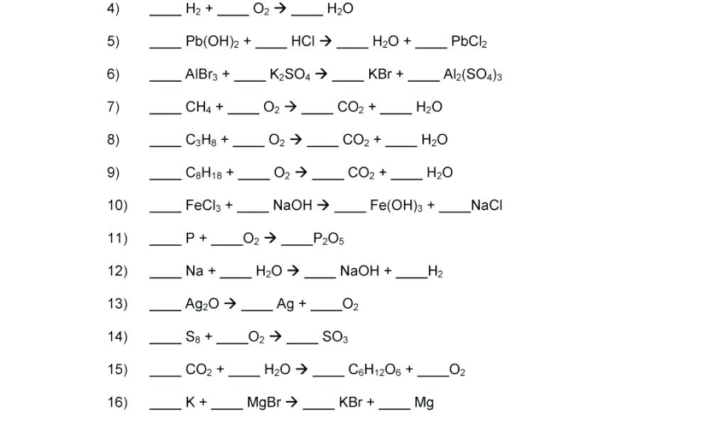 Balancing Chemical Equations Worksheet Maker And Printable