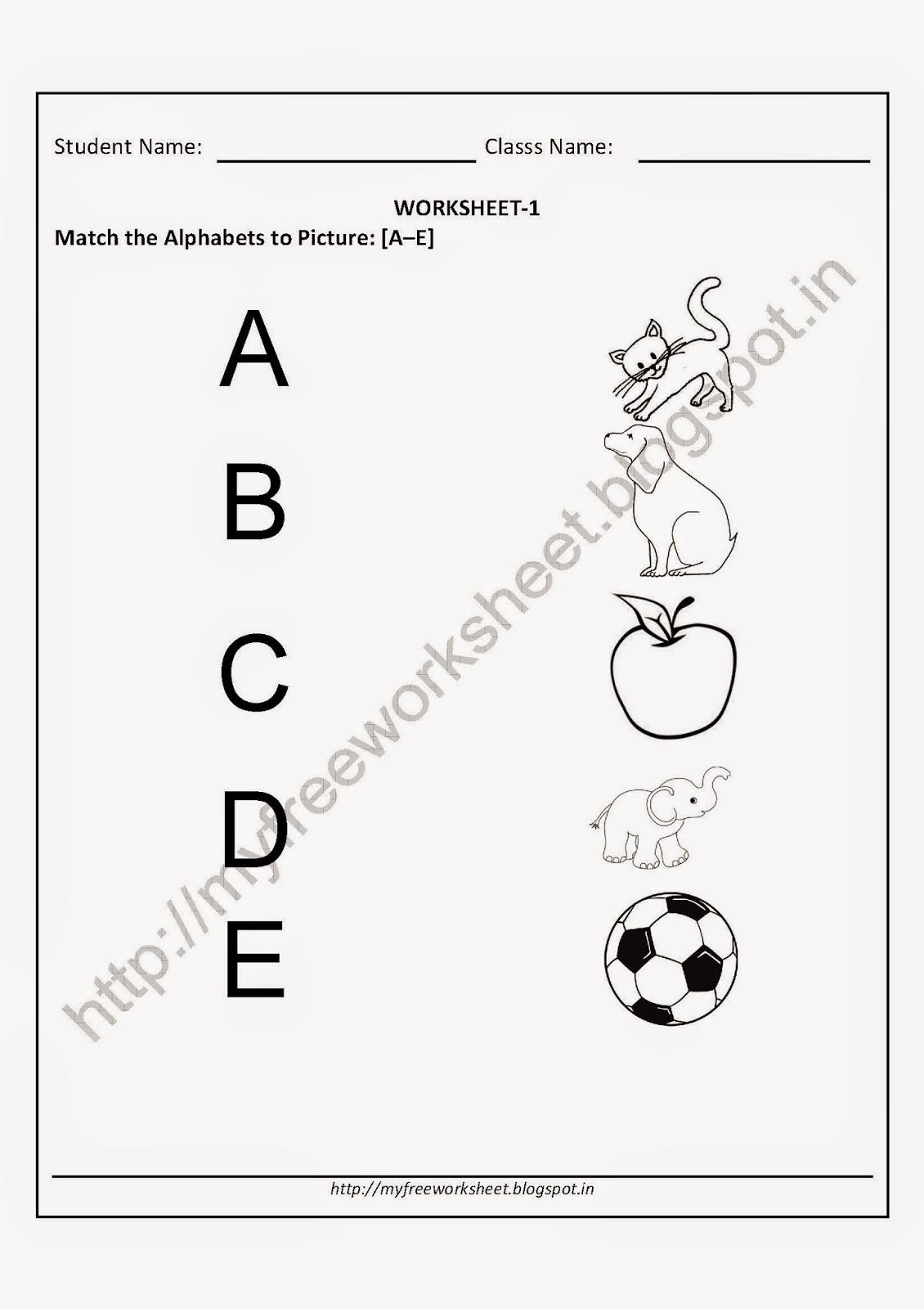 Download English Worksheets For Kindergarten