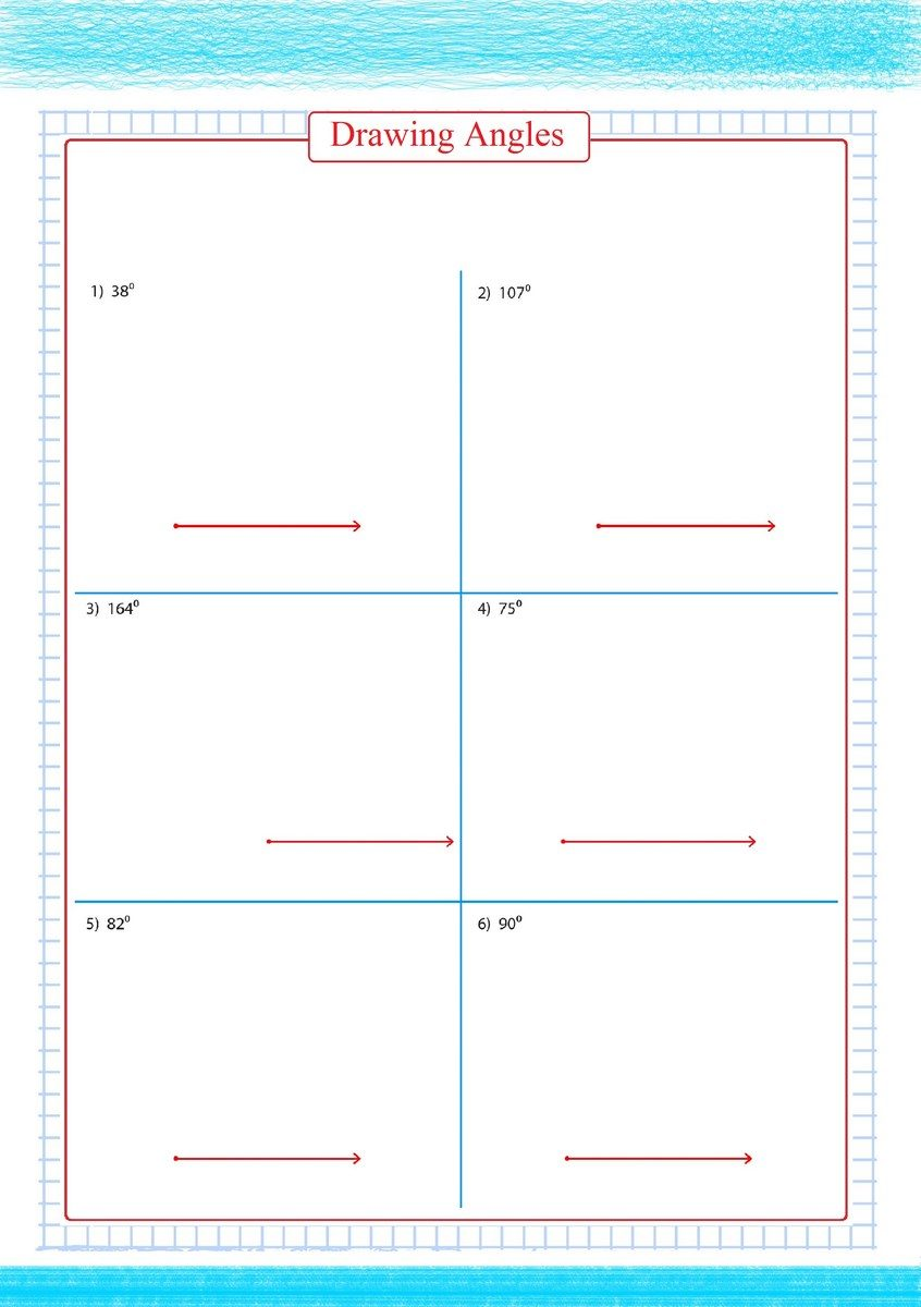 Drawing Angles Worksheet Year 6  198318