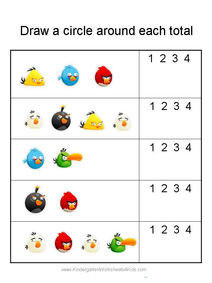 Easy Kindergarten Addition Worksheets  134129