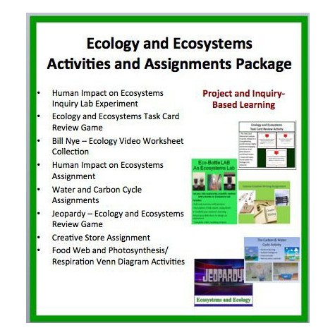 Ecosystems For Kids Activities And Assessments Package