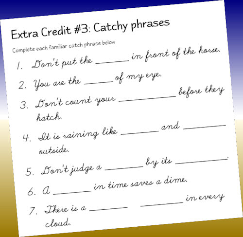 Extra Credit! – Handwriting For Heroes