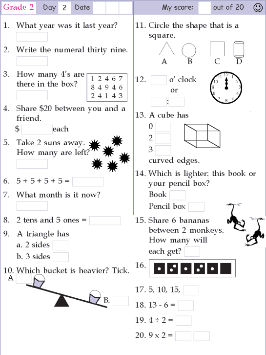 This Is A Great Link! Grade 2 Mental Math