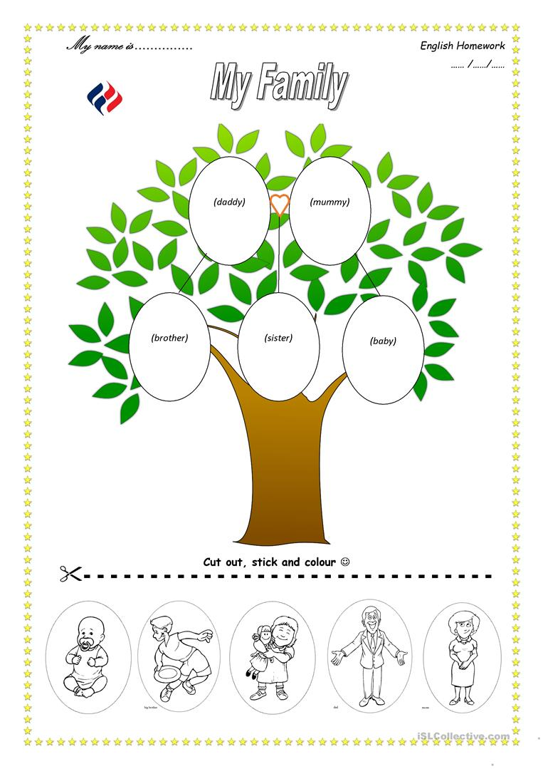 Family Tree Preschool Worksheets 1353845