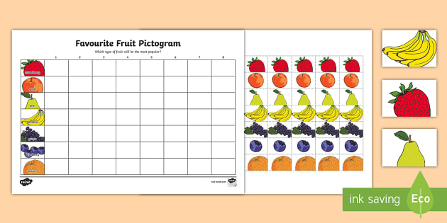 Favourite Fruit Pictogram And Picture Cards Worksheet   Activity