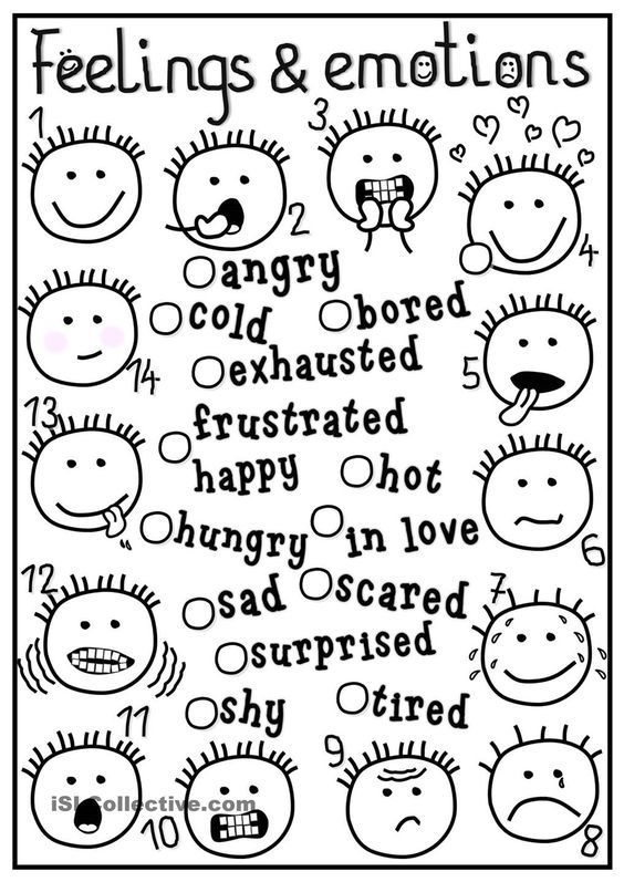 Feelings Emotions Coloring Pages