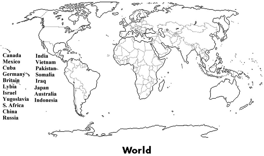 Fill In The Blank World Map Worksheet Worksheets For All Fill In