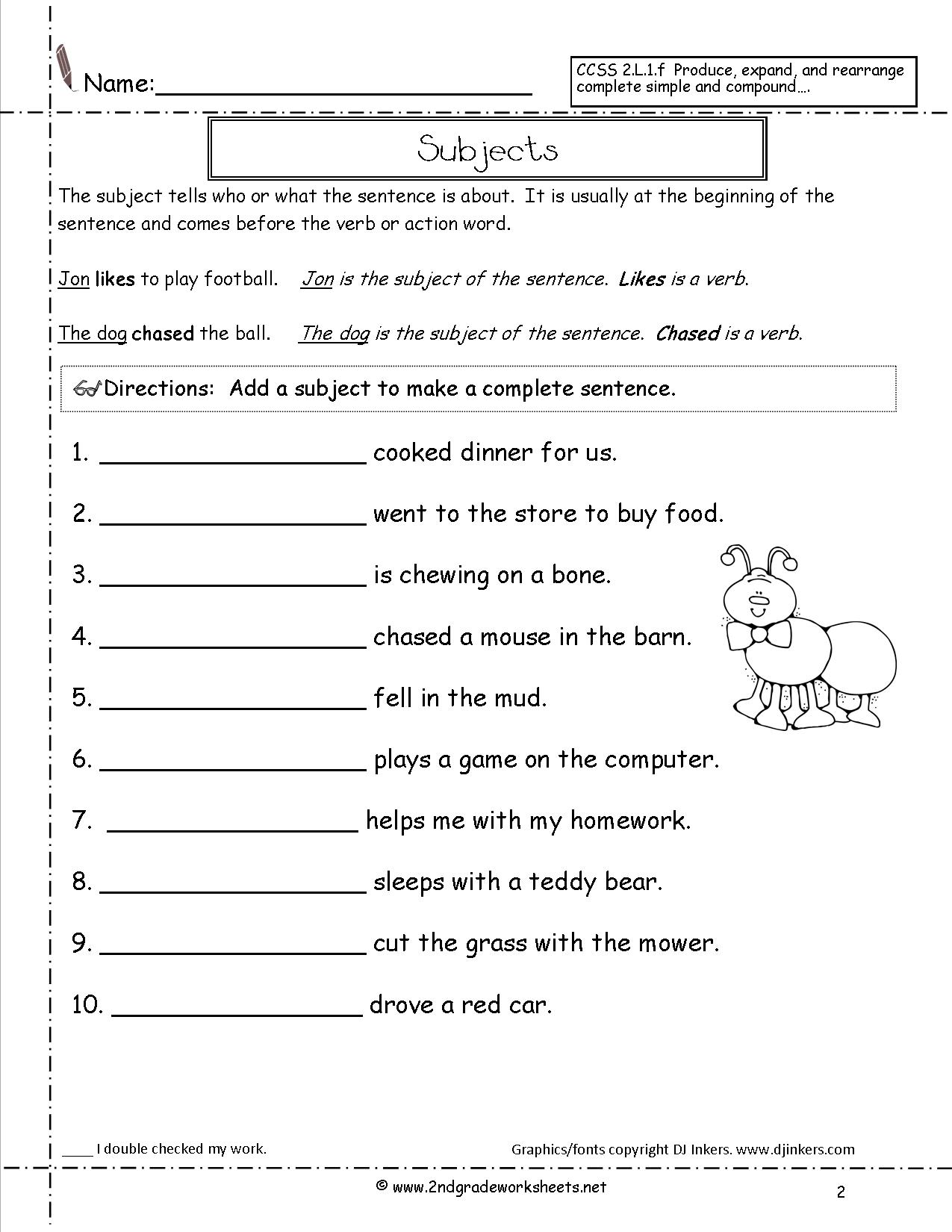 Four Different Kinds Of Sentences Worksheet 1289082