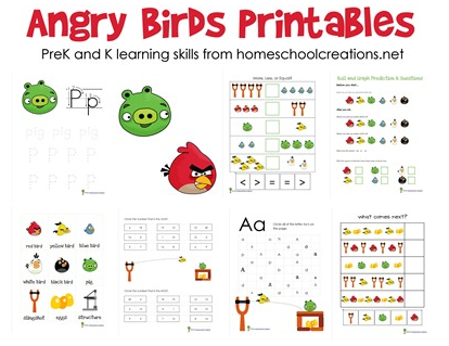 Free Angry Birds Printables For Preschool And Kindergarten