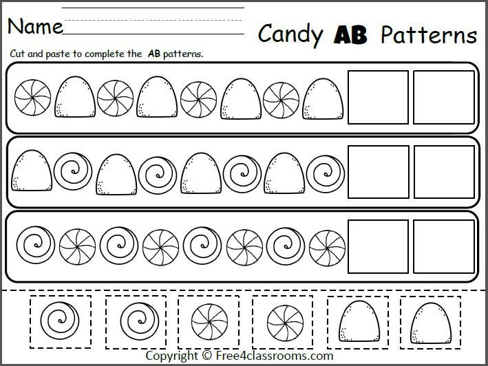 Free Candy Ab Patterns Cut And Paste