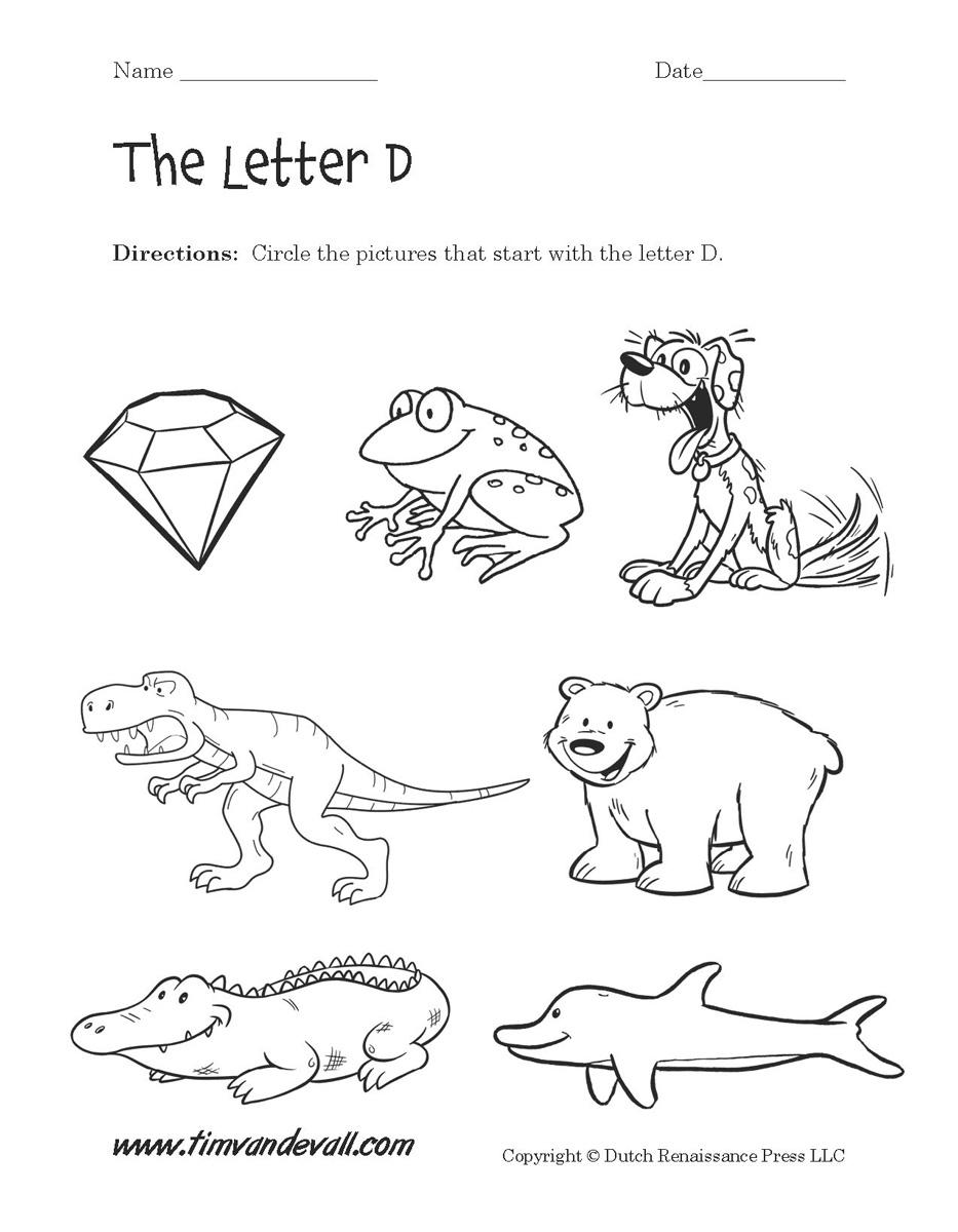 Free Letter D Worksheets For Preschool 457779