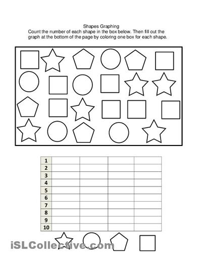 Free Math Graphing Worksheets For Kindergarten  1288921