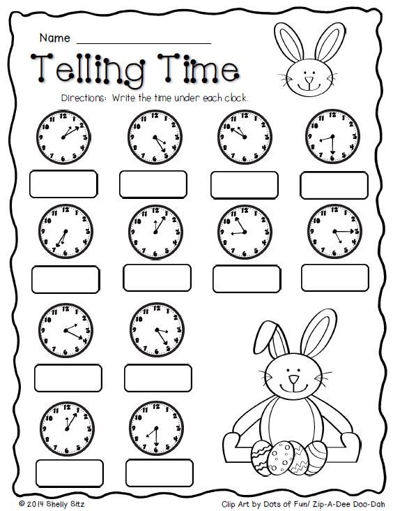 Free Math Worksheets 2nd Grade Telling Time  392811