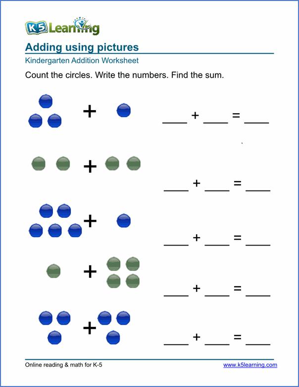 Free Preschool Kindergarten Simple Math Worksheets Printable For