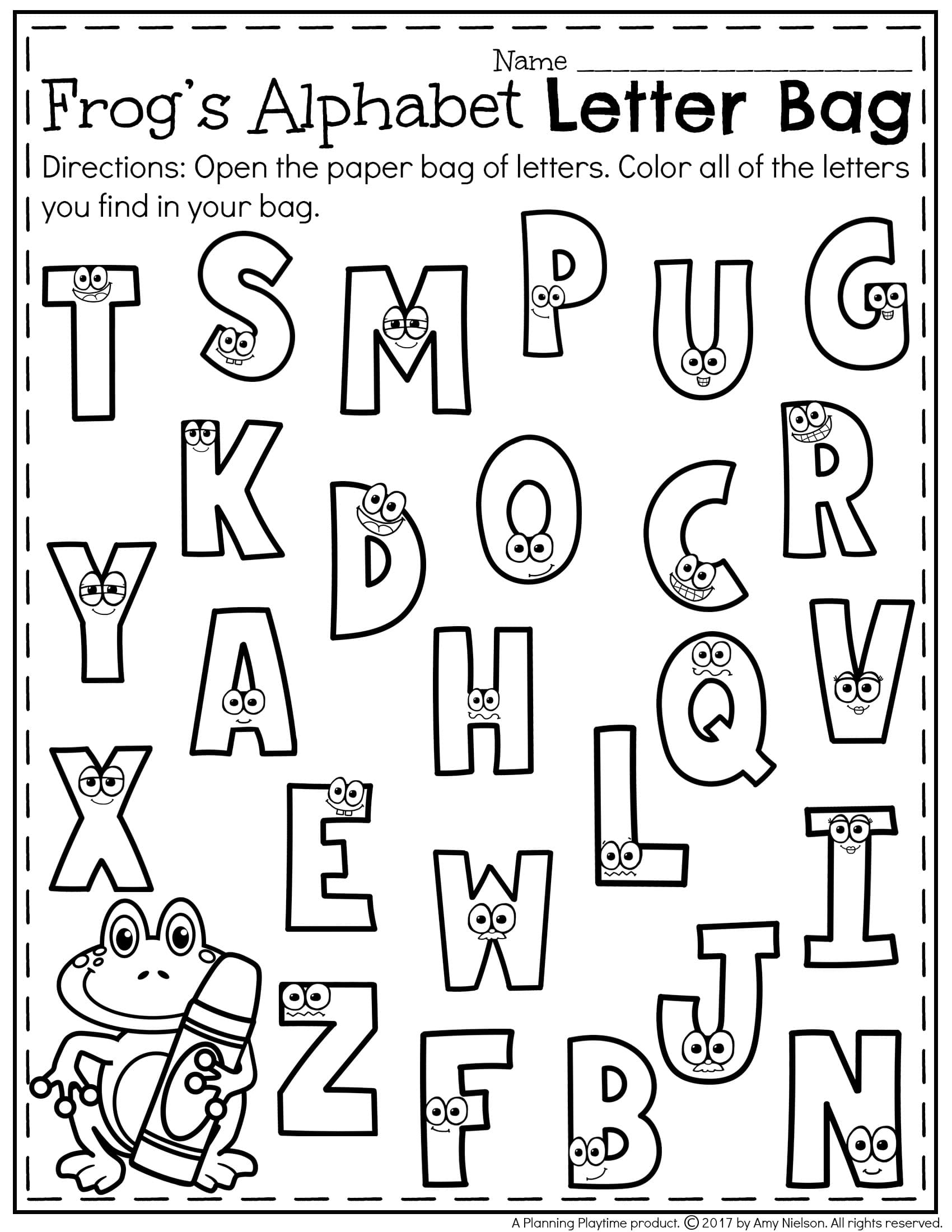 Free Preschool Letter Recognition Worksheets  315605