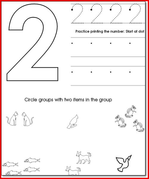 Free Preschool Worksheets Age 2 3  515964