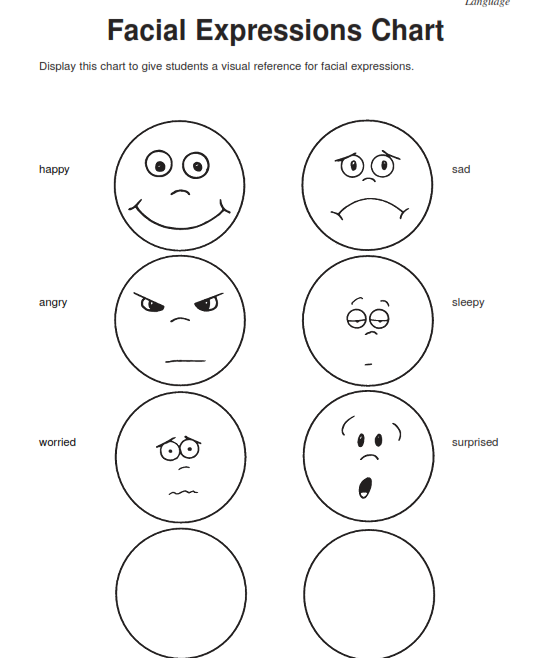 Free Preschool Worksheets Emotions