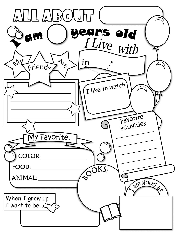 Free Printable All About Me Worksheet Preschool 1024351