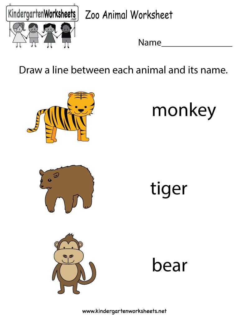 Free Printable Animal Worksheets For Preschoolers 1130448