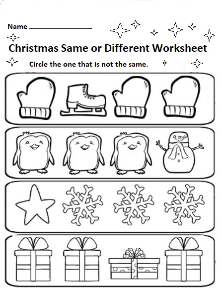 Free Printable Christmas Worksheets For Preschool Preschool Crafts