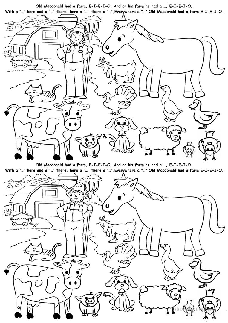 Free Printable Farm Worksheets For Preschoolers 1255091
