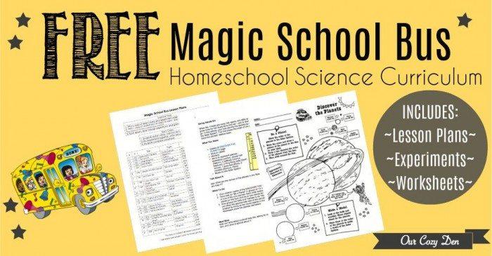 Free Printable Magic School Bus Homeschool Science Curriculum With