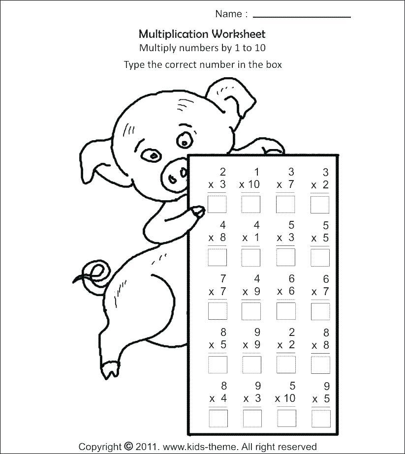2 Digit Multiplication Worksheets Grade 4 Activities Free
