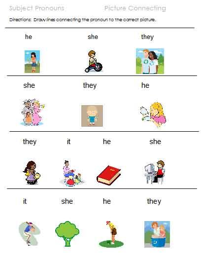 Free Printable Pronoun Worksheets For Preschool  643527