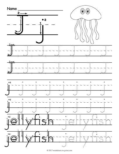 Free Printable Tracing Letter J Worksheet