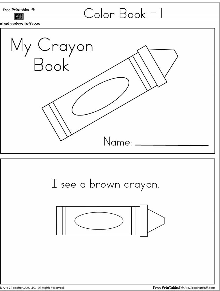 Free Printable Worksheets On Colors For Preschoolers  886713