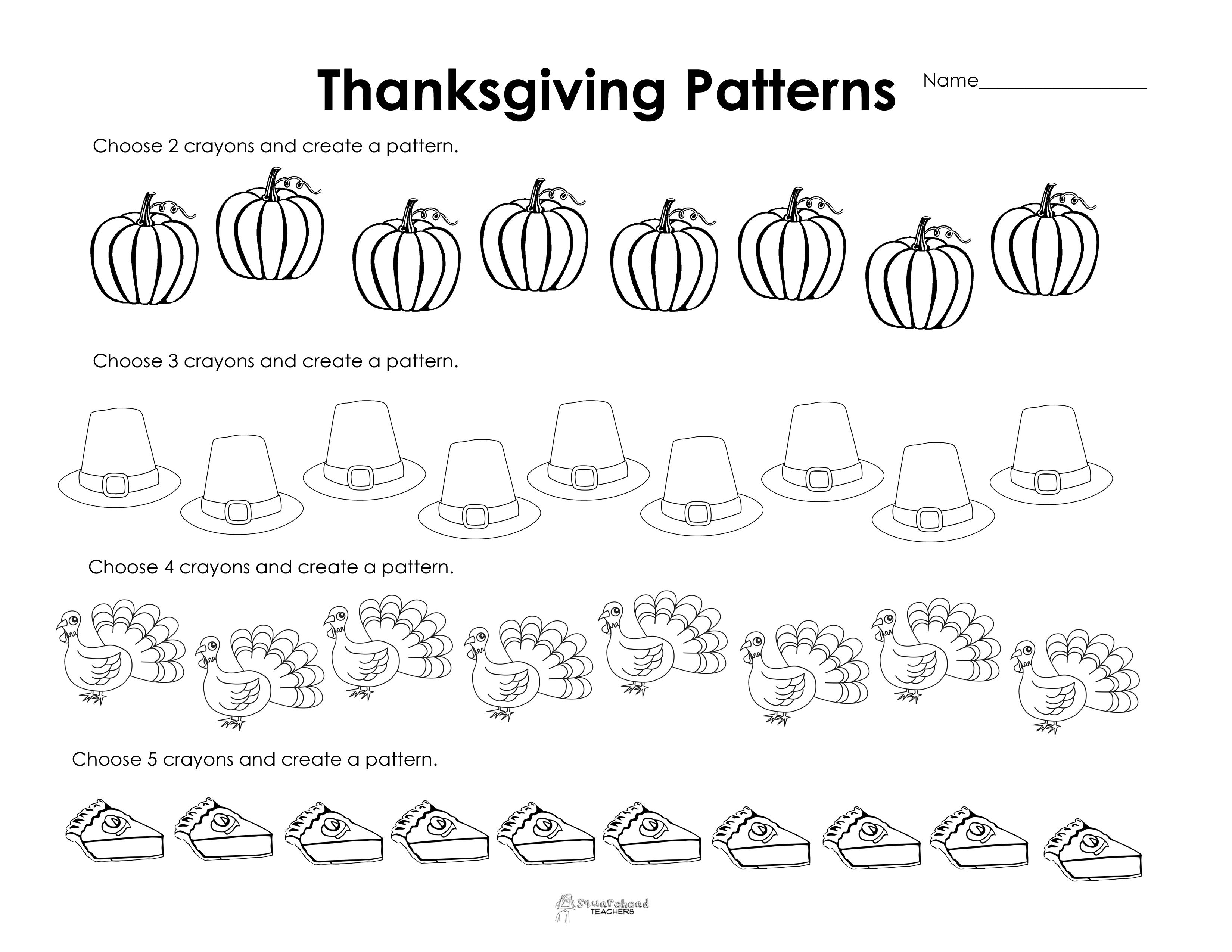 Free Thanksgiving Math Worksheets 1st Grade  552401