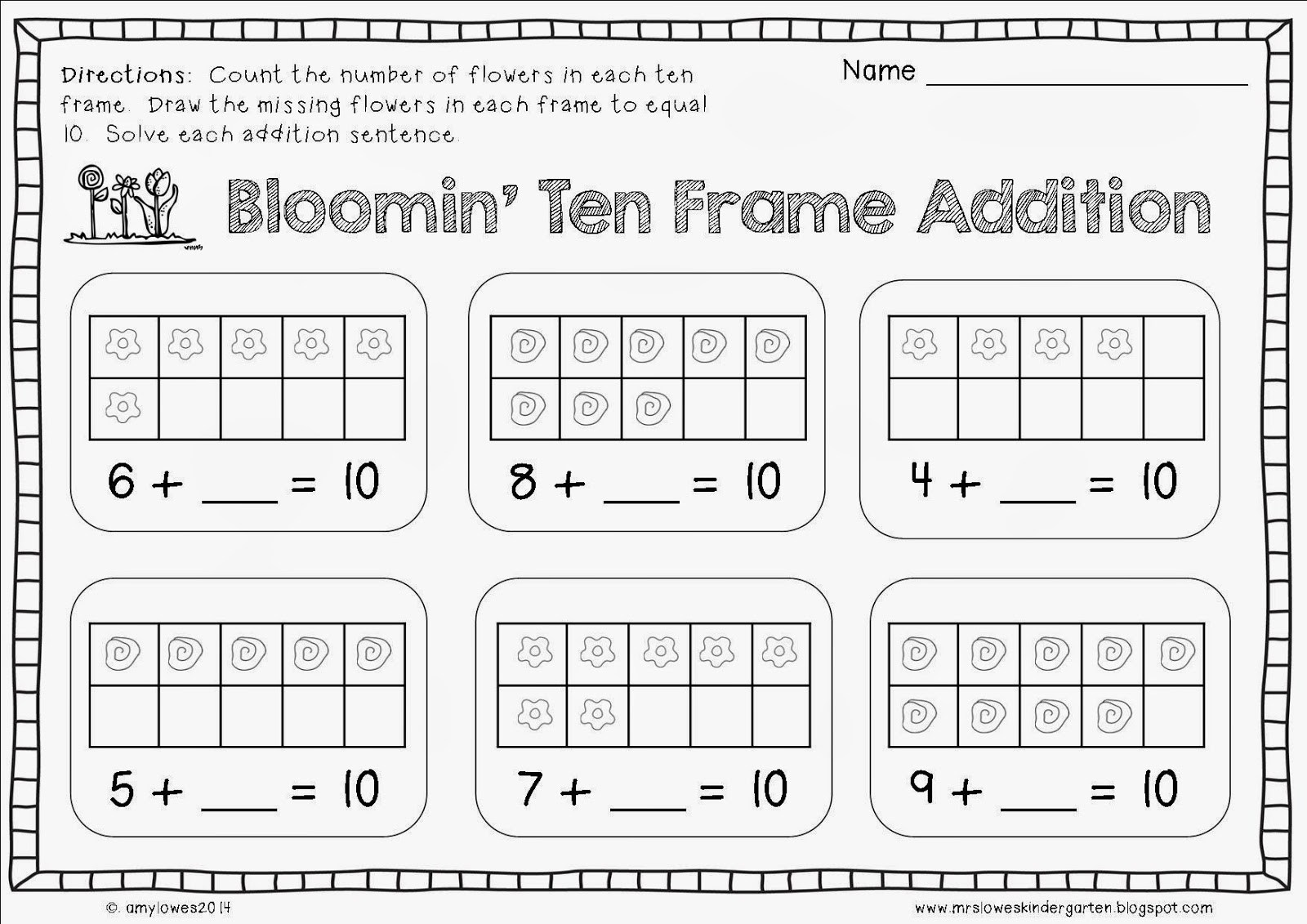 Free Worksheets Decomposing Numbers Kindergarten  1184510