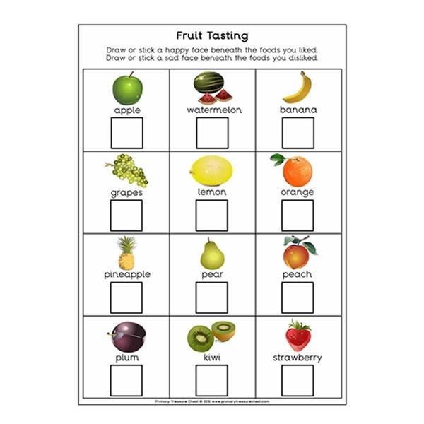 Fruit Tasting Worksheet