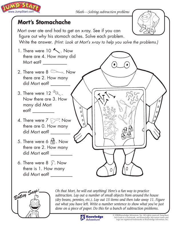 Fun Math Activity Worksheets For 3rd Grade  751257