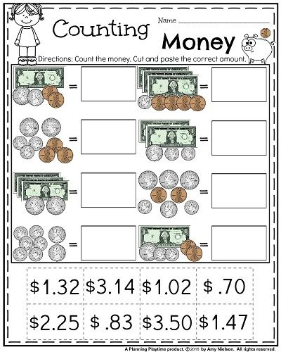 Fun Math Worksheets For 2nd Grade 38 Impressive Money Math Lesson