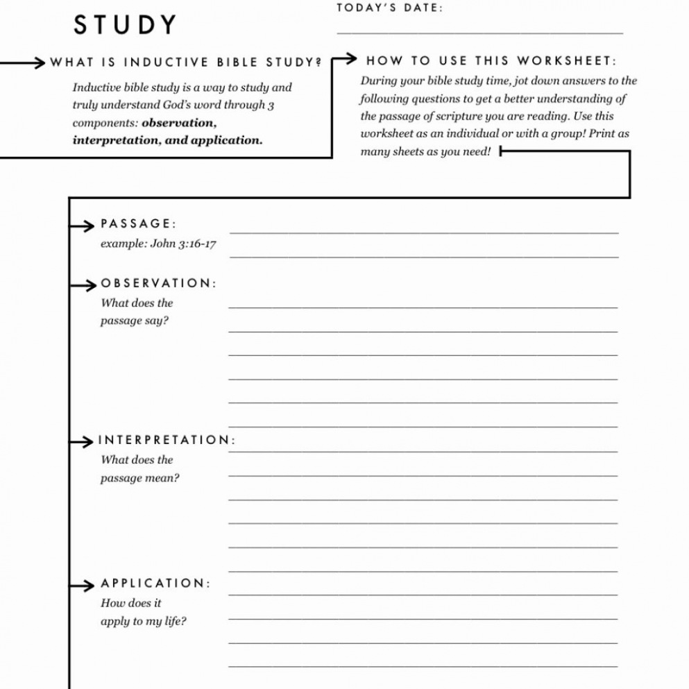 Get Free Printable Bible Study Worksheets For Adults – Www