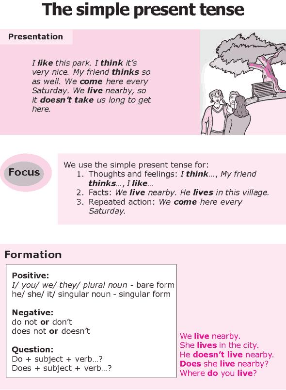 Good Grammar » Grade 8 Grammar Lesson 1 The Simple Present Tense