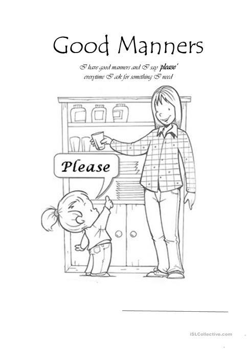 Good Manners Worksheet