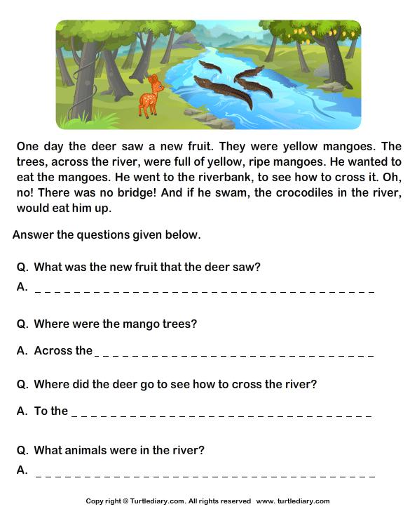 Grade 1 English Comprehension Worksheets