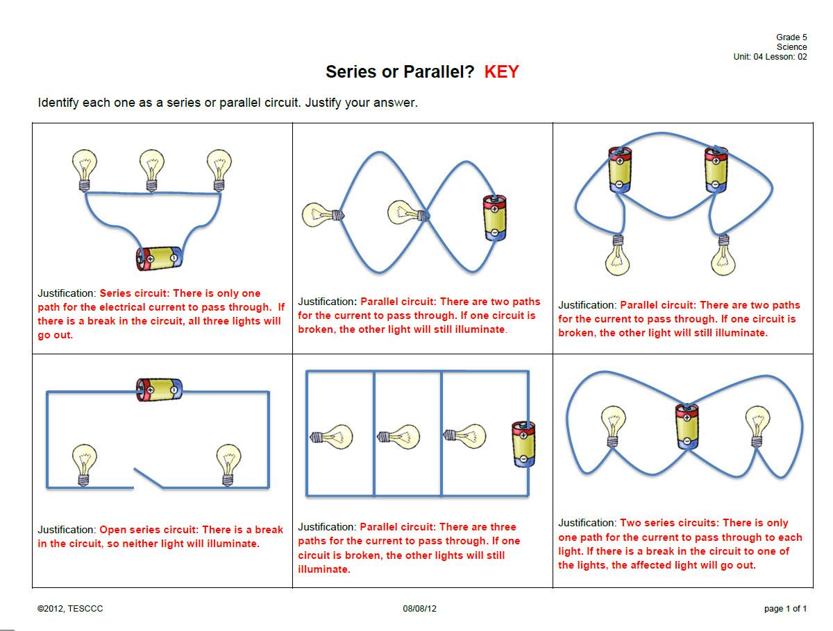 Grade 5 Circuit Diagrams