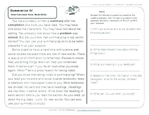 Grade Reading Comprehension Worksheets Students Activities Stories