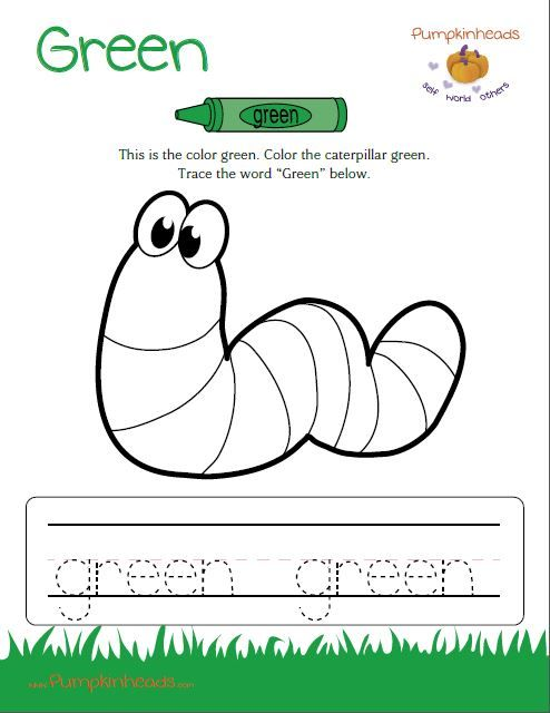 Green Worksheets For Toddlers  322839